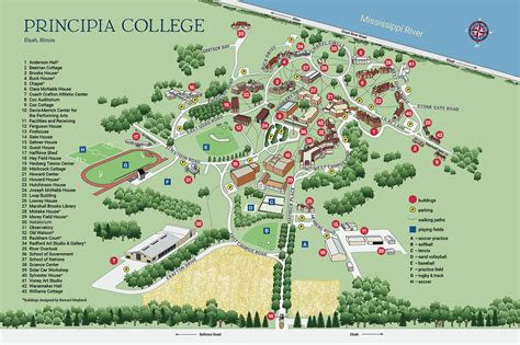 maps and directions map and directions principia college