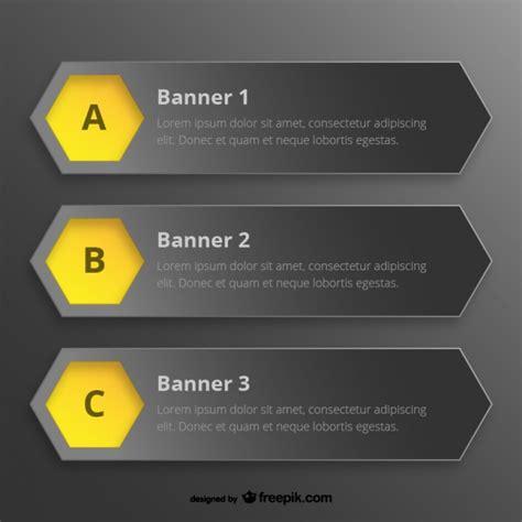 Hexagon Banner Templates Vector Free Download Hexagon Website Template