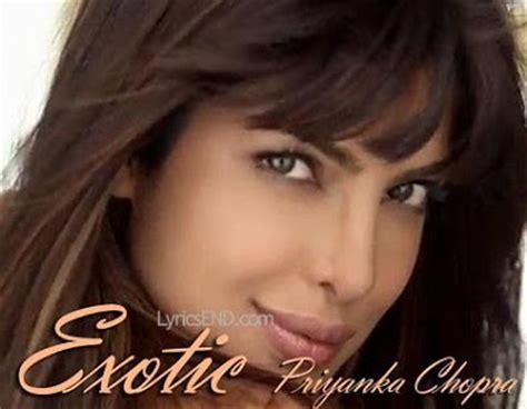 priyanka chopra exotic mp3 song priyanka chopra exotic lyrics ft pitbull music video