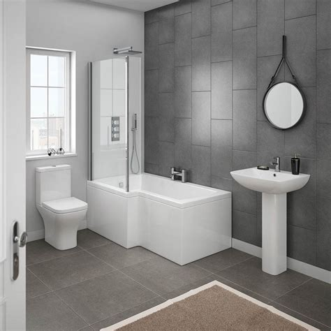 new bathroom shower ideas milan modern shower bath suite at plumbing co uk