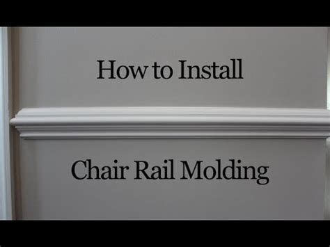 chair rail molding installation how to install chair rail molding