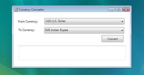 currency converter application using wpf and wcf in
