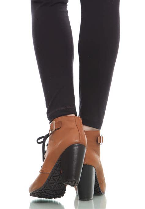 Sepatu Boots Musim Dingin sepatu ankle boots kulit brown genuine ankle boots