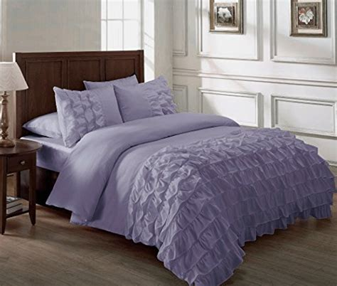 chezmoi collection ella 3 piece ruffle comforter set queen