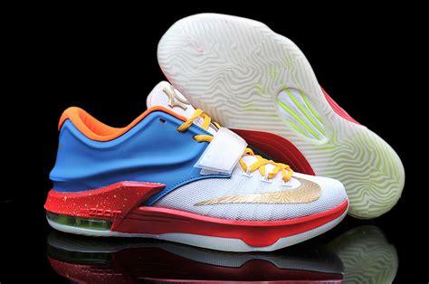 Schuhe Nike Kd 7 Vii Schuhe Weiã Gold Schwarz Bequemes Produkt P 370 nike kd 7 2015 schwarz wei 223 basketballe schuhe