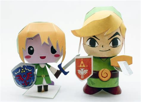 Nendoroid Papercraft - chibi links papercraft by ichigo lemons on deviantart