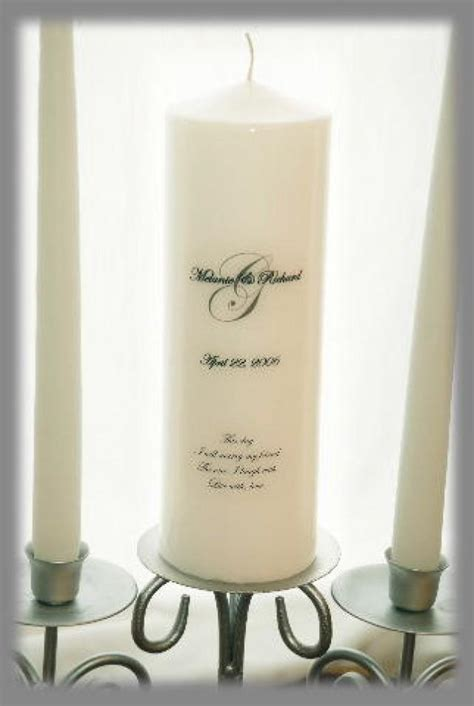 Personalized Unity Candle Set Etsy by Personalized Unity Candle Set With Monogram Wedding