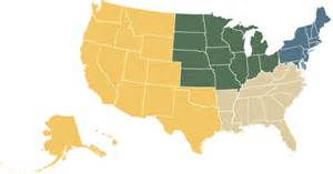 us map divided into east and west regional college rankings top regional colleges us