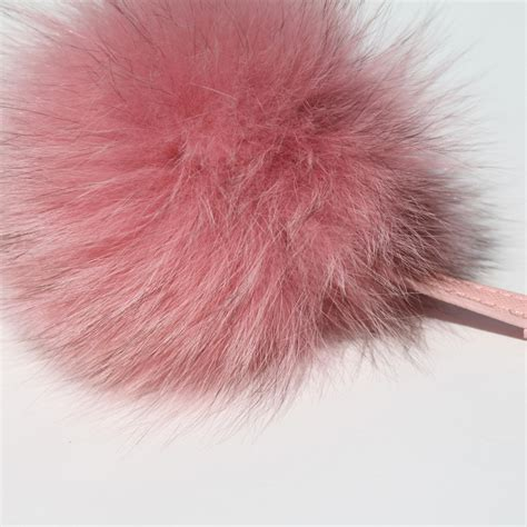 pomeranian fur baby pink fox fur pom pom philippa