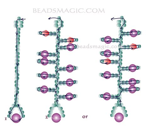 free pattern for beaded earrings currant magic