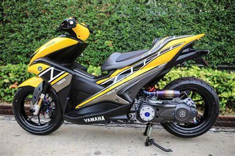 Modifikasi Aerox 155 by Modifikasi Yamaha Aerox 155 Livery 60th Anniversary Yamaha