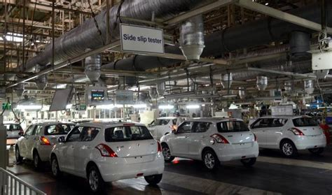 Suzuki Manufacturing Maruti Temporarily Suspends Production At Manesar And