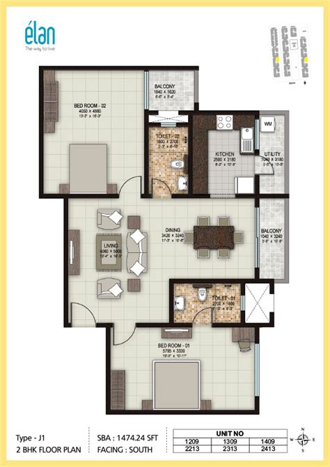 floor plan omaxe city ajmer road jaipur residential 2 bhk apartment floor plans