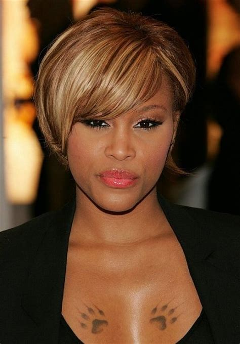 hairstyles short side bangs afric easy african american short hairstyles circletrest