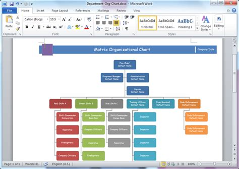 word template organization chart organizational chart templates for word