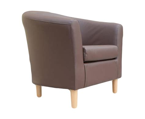 brown faux leather tub chair hamlet brown faux leather tub chair uk delivery