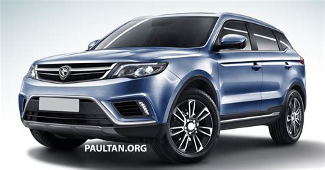 The Proton by Proton Suv Gets Rendered Based On Geely Boyue