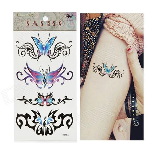 tattoo paper price hm156 butterfly pattern tattoo paper sticker blue