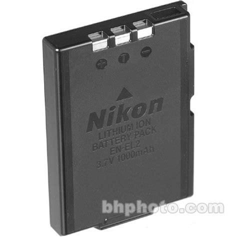 Dijamin Battery Nikon En El2 nikon en el2 lithium ion battery 3 7v 1000mah 9904 b h photo