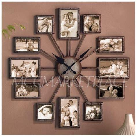 unique collage picture frames unique large wall clock photo family picture
