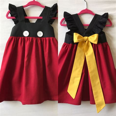 mickey mouse dress disney dress minnie mouse dress baby