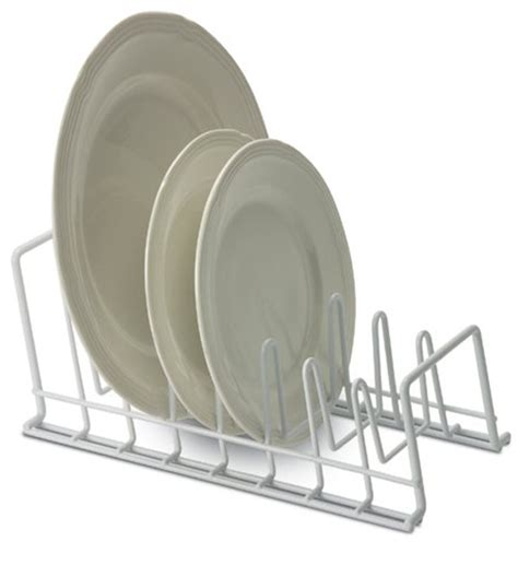 Kitchen Plate Rack Cabinet by White Wire Lid And Plate Holder In Pot Lid Racks