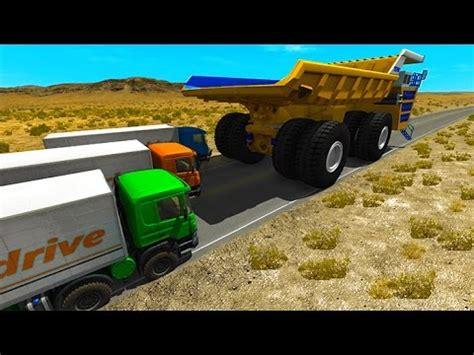 Destroy A Car Dump Truck by Beamng Drive Belaz Dump Truck Crushing Destroy