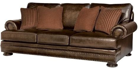 Foster Leather Sofa by Bernhardt Foster Leather Sofa Traditional Sofas By Carolina Rustica