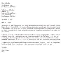 Resignation Letter Due To Pregnancy Sle Resignation Letters Letter Sles Livecareer