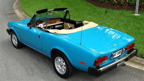 fiat spider 2000 for sale 1982 fiat spider 2000 turbo convertible for sale