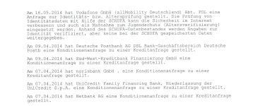 Was Steht In Der Schufa Für Vermieter by Schufa Auskunft Schufa Score Via Kostenloser
