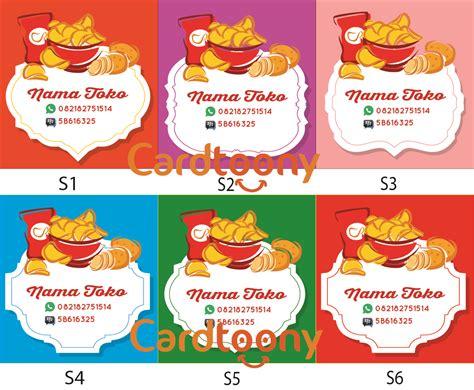 Sticker Produk Sticker Nama Label Sticker Sticker Kemasan 1 jual sticker stiker label nama toko kemasan makanan