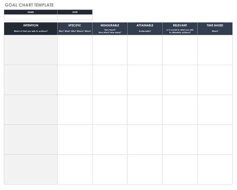 goal setting calendar template free goal setting and tracking templates smartsheet