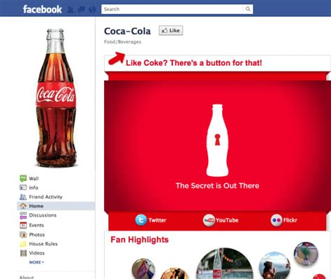 si鑒e social coca cola coke no 1 in social media marketing thanks to user
