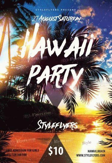 Hawaii Party Psd Flyer Template 9789 Styleflyers Free Hawaiian Luau Flyer Template