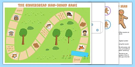 gingerbread man board game printable the gingerbread man board game board game gingerbread man