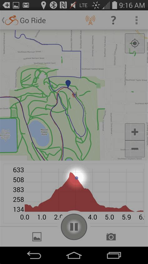 android elevation starting voice navigation on the mobile app ride with gps help