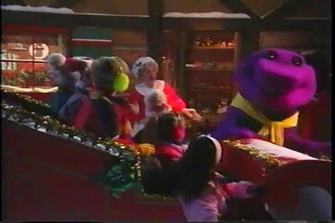 barney and the backyard gang christmas we wish you a merry christmas barney wiki