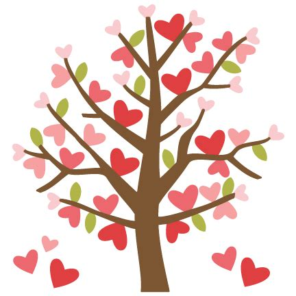 cute simple tree designs free clip art valentine tree svg cutting files valentines day clipart