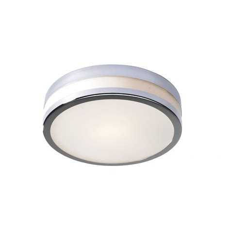 Small Ceiling Lights by Dar Lighting Cyro Cyr5250 Polished Chrome Ip44 Flush Small