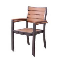 fauteuil de jardin en aluminium composite lot de 2 lamia