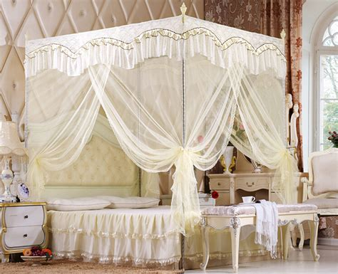luxury canopy bed curtains home mosquito net three door luxury bed canopy netting