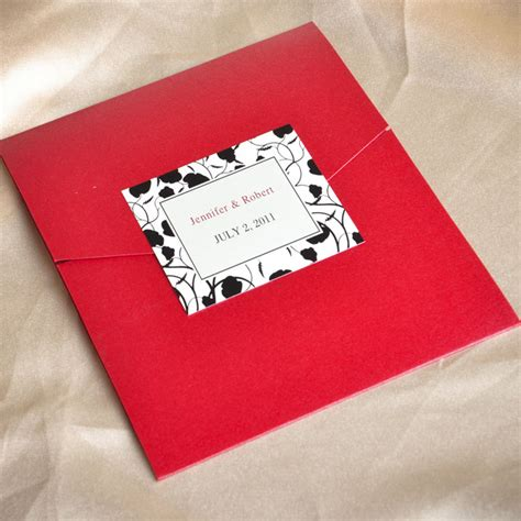 printable pocket wedding invitation kits modern red and black pocket printable wedding invitation
