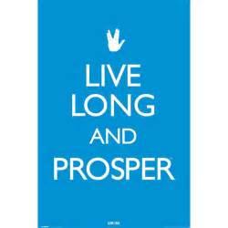 Star trek live long and prosper poster a vulcan greeting from