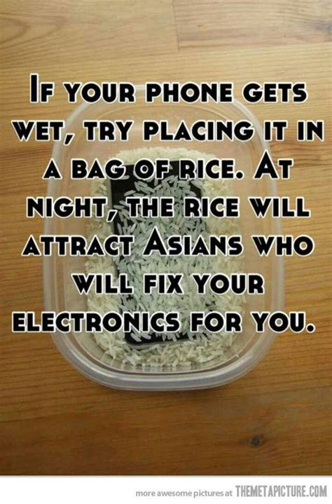 Phone Rice Meme - all that spam if your phone gets wet try placing it in a
