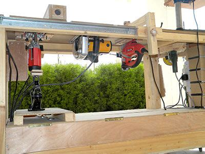 power tool bench the smallest workshop in the world