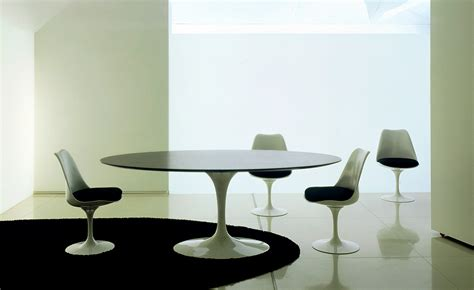 Saarinen Dining Table Black Granite   hivemodern.com