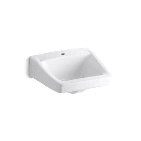 kohler wall mount sink kohler chesapeake wall mount vitreous china bathroom sink