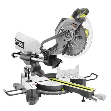 ryobi 15 10 in sliding miter saw with laser tss102l
