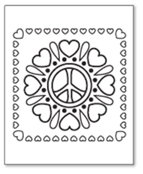 coloring pages of hearts and peace signs fun peace sign coloring pages